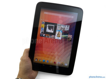The Google Nexus 10 maintains a clean appearance - Google Nexus 10 Review