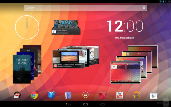 Interface of the Google Nexus 10 - Google Nexus 10 vs Microsoft Surface RT