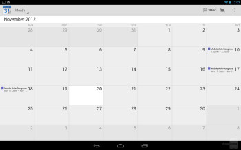 Organizer apps of the Google Nexus 10 - Google Nexus 10 vs Apple iPad 4