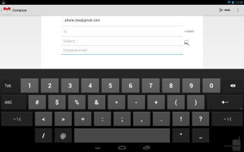 The stock Android 4.2 keyboard on the Google Nexus 10 - Google Nexus 10 vs Apple iPad 4