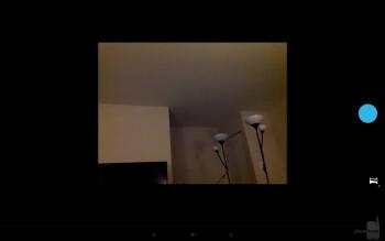 Photo Sphere shooting modeCamera interface of the Google Nexus 10 - Google Nexus 10 vs Apple iPad 4