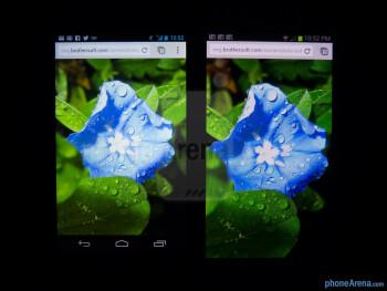 Color productionThe Google Nexus 4 (left) and the Samsung Galaxy S III (right) - Google Nexus 4 vs Samsung Galaxy S III