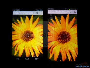 Color productionThe Google Nexus 4 (left) and the Samsung Galaxy S III (right) - Google Nexus 4 vs Samsung Galaxy S III