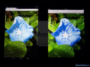 Color productionThe Google Nexus 10 (left) and the Apple iPad 4 (right) - Google Nexus 10 vs Apple iPad 4