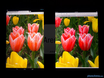 Color productionThe Google Nexus 10 (left) and the Apple iPad 4 (right) - Google Nexus 10 vs Apple iPad 4