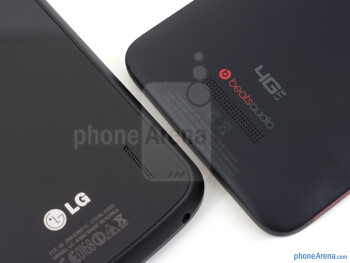 Speaker grills - The Google Nexus 4 (left) and t