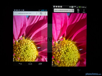 Color productionThe Google Nexus 4 (left) and the HTC DROID DNA (right) - Google Nexus 4 vs HTC DROID DNA