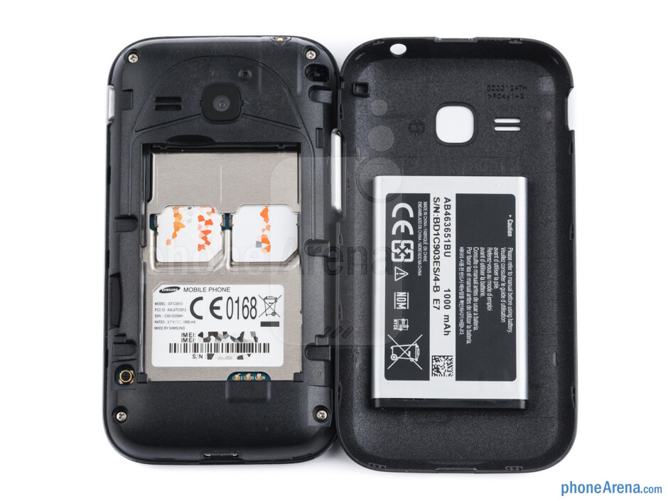 Battery compartment - Samsung Champ Deluxe Duos Review