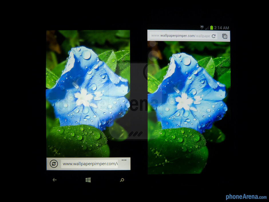 Color prduction of the Nokia Lumia 920 (left) and the Samsung Galaxy S III (right) - Nokia Lumia 920 vs Samsung Galaxy S III