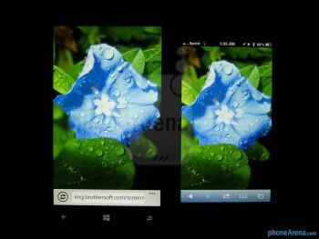 Color representation of the Nokia Lumia 920 (left) and the Apple iPhone 5 (right) - Nokia Lumia 920 vs Apple iPhone 5