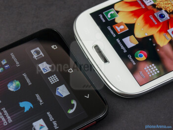 Android buttons - The HTC DROID DNA (left) and the Samsung Galaxy S III (right) - HTC DROID DNA vs Samsung Galaxy S III