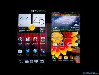 Viewing angles - The HTC DROID DNA (left) and the Samsung Galaxy S III (right) - HTC DROID DNA vs Samsung Galaxy S III