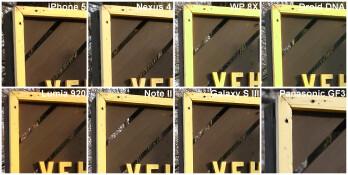 100% image crops - Camera comparison: iPhone 5 vs Nexus 4 vs 8X vs DROID DNA vs Lumia 920 vs Note II vs Galaxy S III