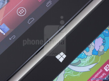 Platform keys - The Google Nexus 10 (left) and the Microsoft Surface RT (right) - Google Nexus 10 vs Microsoft Surface RT