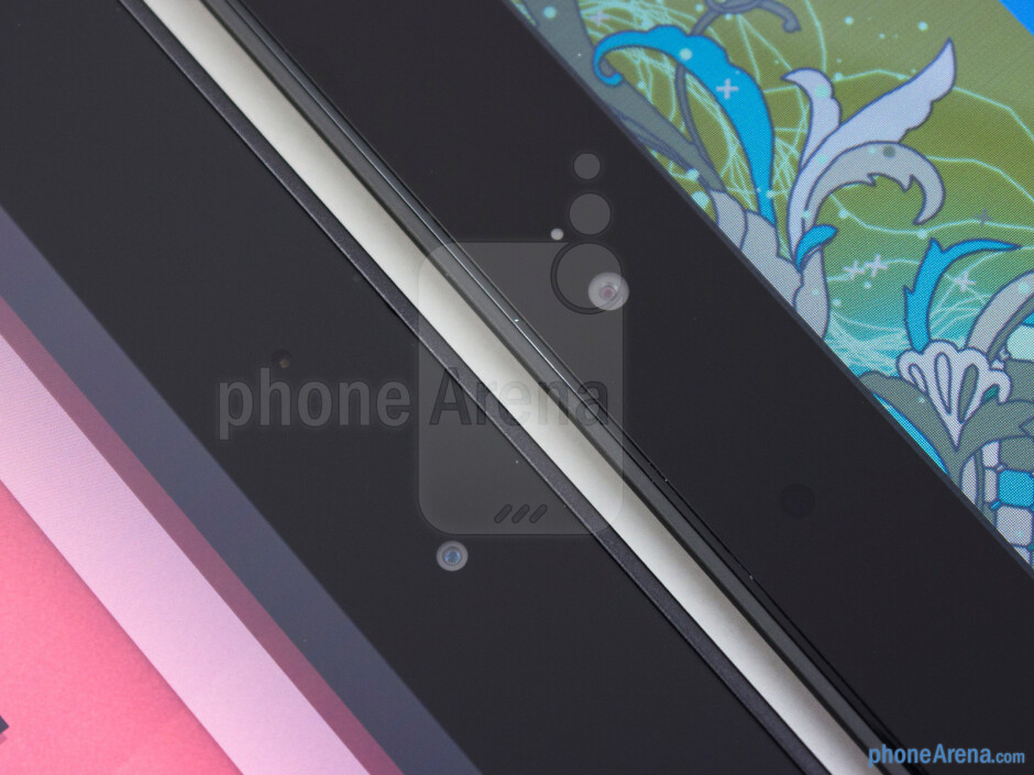 Front cameras - The Google Nexus 10 (left) and the Microsoft Surface RT (right) - Google Nexus 10 vs Microsoft Surface RT