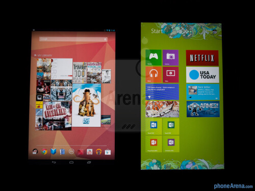 Google Nexus 10 vs Microsoft Surface RT
