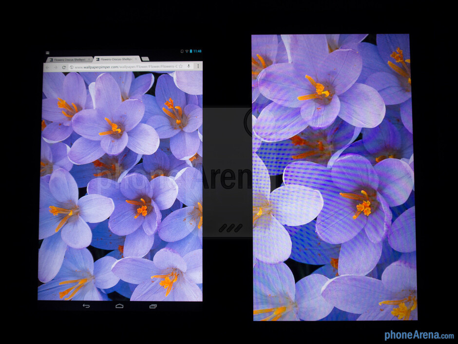 Color productionThe Google Nexus 10 (left) and the Microsoft Surface RT (right) - Google Nexus 10 vs Microsoft Surface RT