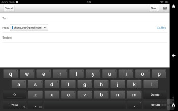 The keyboard is actually worse to type in landscape - Amazon Kindle Fire HD 8.9 Review