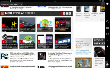 Browsing the web with Amazon Kindle Fire HD 8.9's Silk browser - Amazon Kindle Fire HD 8.9 Review