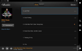 Music player - Multimedia capabilities of the Amazon Kindle Fire HD 8.9 - Amazon Kindle Fire HD 8.9 Review