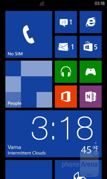 UI of the HTC Windows Phone 8S - HTC Windows Phone 8S Review