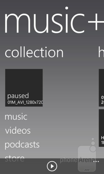 Music + Video hub - HTC Windows Phone 8S Review