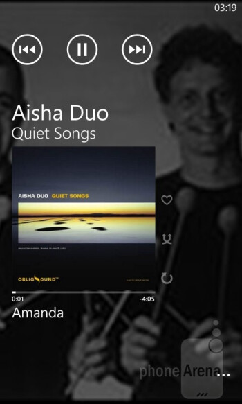 Music + Video hub - HTC Windows Phone 8S Review
