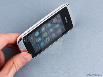 The Nokia Asha 309 is a compact little device that fits comfortably in the hand - Nokia Asha 309 Review