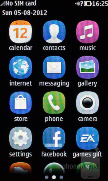 Interface of the Nokia Asha 309 - Nokia Asha 309 Review