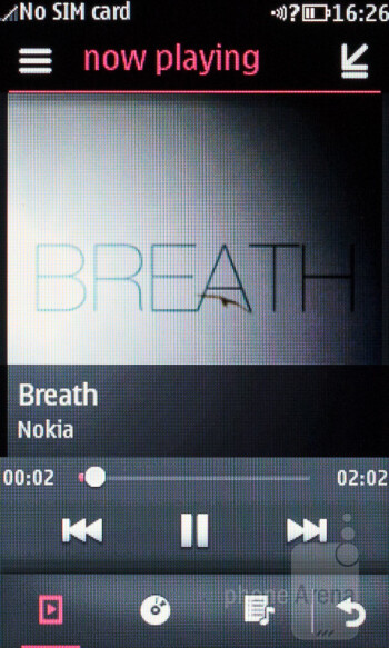 The music player of Nokia Asha 309 - Nokia Asha 309 Review
