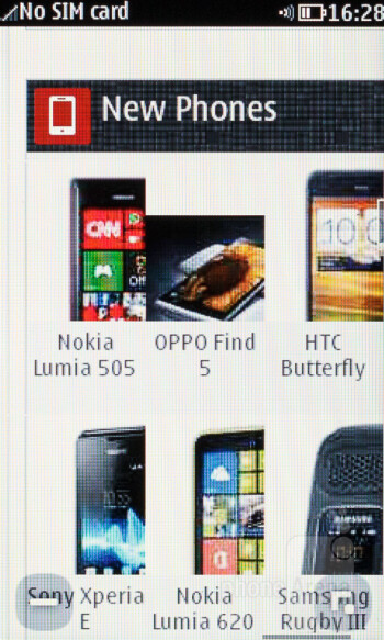 Web browser 1.0 of the Nokia Asha 309 - Nokia Asha 309 Review