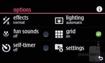 Camera interface - Nokia Asha 309 Review