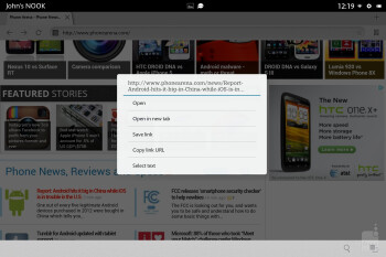 Web browsing with the Barnes & Noble NOOK HD+ - Barnes & Noble NOOK HD+ Review