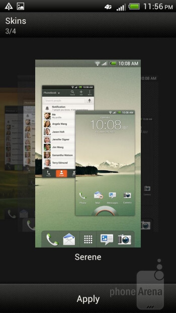 The HTC One VX is running the Sense UI on top of Android 4.0 Ice Cream Sandwich - HTC One VX Review
