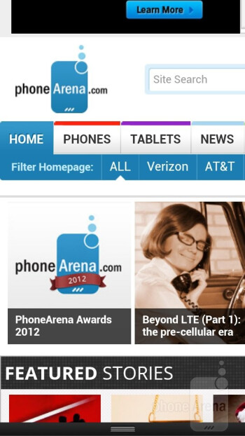 Web browsing with the HTC One VX - HTC One VX Review