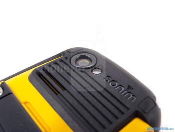 Rear camera - Battery compartmentThe sides of the Sonim XP Strike - Sonim XP Strike Review