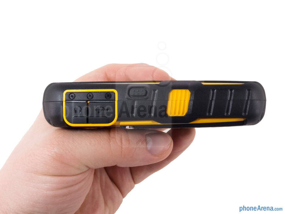 The Sonim XP Strike has a thick, rubberized black exterior with yellow accent - Sonim XP Strike Review