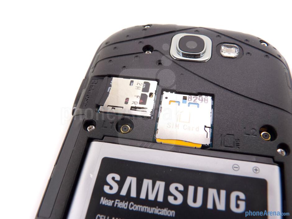 SIM and microSD card slots - Samsung Galaxy Express Review