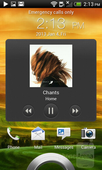 The music player of the HTC One SV - HTC One SV Review