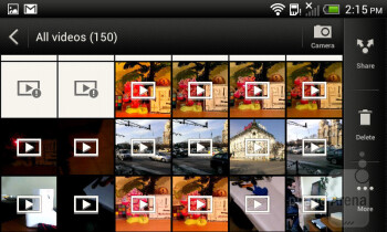 Videos can be watched using the gallery application - HTC One SV Review