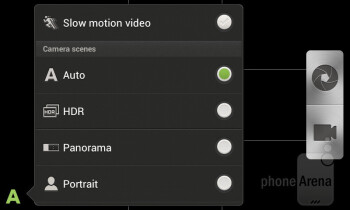 Camera interface - HTC One SV Review