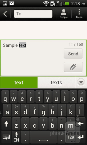 Virtual keyboard - HTC One SV Review