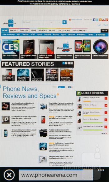 The mobile Internet Explorer browser renders pages fairly quickly - Nokia Lumia 510 Review