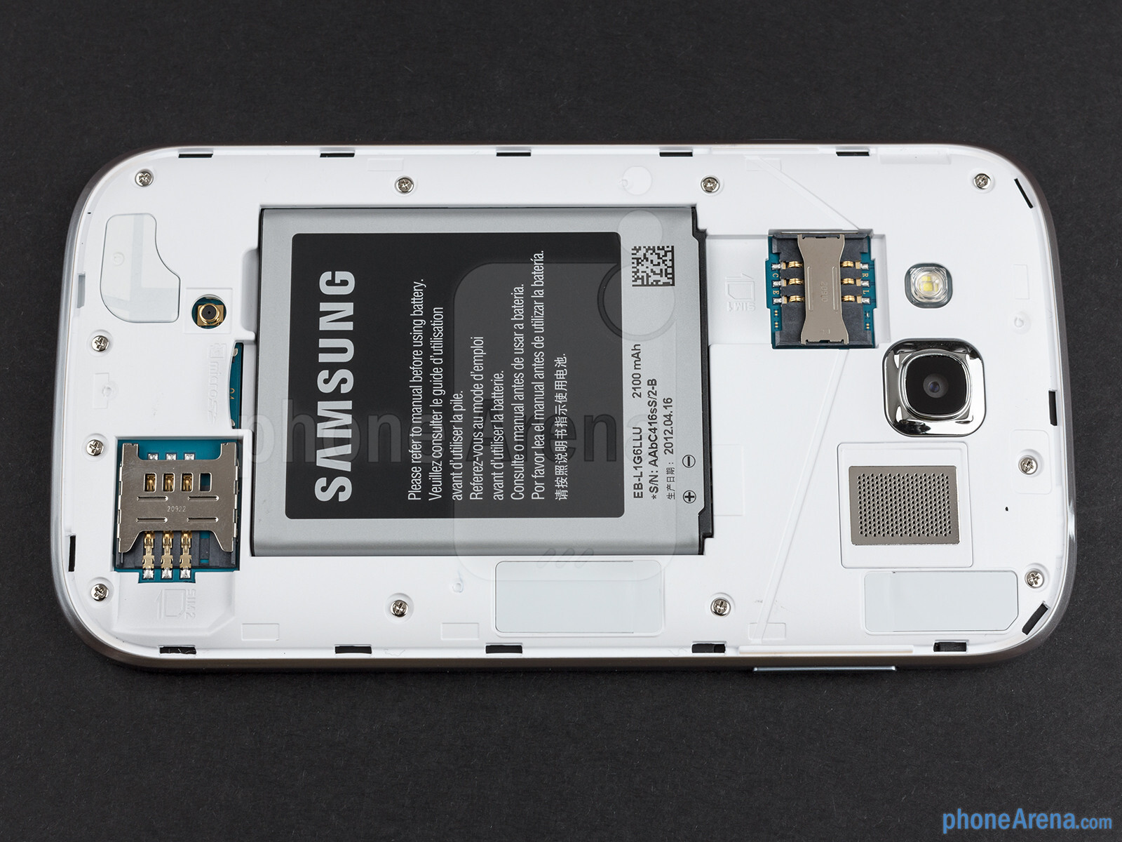 Battery compartment - Samsung Galaxy Grand Duos Preview