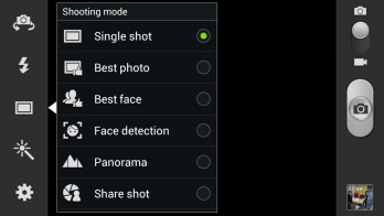 Samsung Galaxy S III camera interface - Samsung Galaxy S III Review