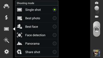 Samsung Galaxy S III camera interface - Samsung Galaxy S III Review