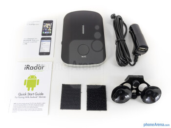 Box and contents of the Cobra iRadar 200 - Cobra iRadar 200 Review