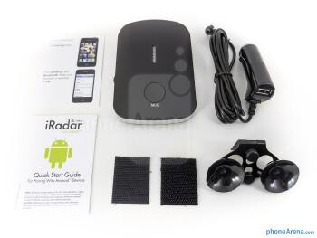 Box and contents of the Cobra iRadar 200 - Cobra iRadar 200 Review