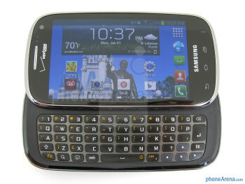 The keyboard on the Samsung Galaxy Stratosphere II - Samsung Galaxy Stratosphere II Review