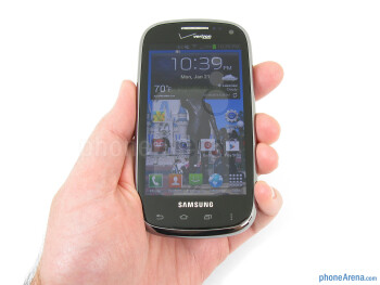 The overall design and appearance of the Samsung Galaxy Stratosphere II draws on elements of other Galaxy models - Samsung Galaxy Stratosphere II Review